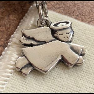 James Avery Baby Angel RETIRED charm halo wings